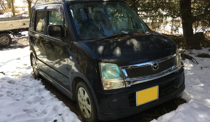 富士河口湖町のお客様から廃車買取したマツダAZワゴン