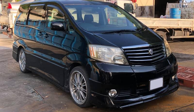 甲府市のお客様から廃車買取したトヨタアルファード
